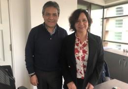 Claudio Suárez y Cecilia Rojas.