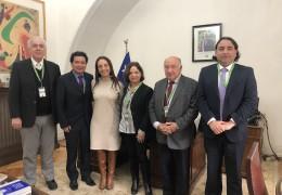 Lorenzo Marusic, Marcelo Mendizábal, Ministra Cecilia Pérez, Cecilia Rojas, José Gálvez y Rodrigo Moreno